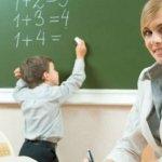 Строгий учитель в школе